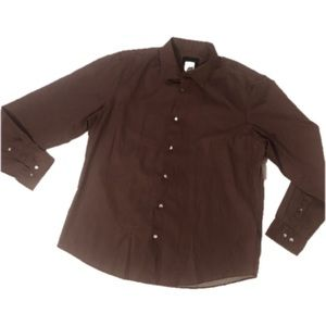 2/$20🛍 Black Brown 1826 Burgundy Dress Shirt